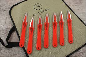Ножи Оружейник — ««<b>Набор метательных ножей</b>» в скатке (7 ...