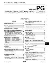 2008 nissan altima power supply ground circuit elements 2008 nissan altima power supply ground circuit elements section pg 133 pages