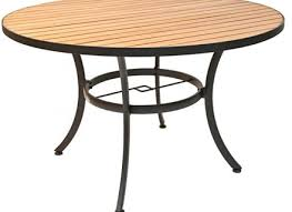 48 inch round resin teak outdoor restaurant table