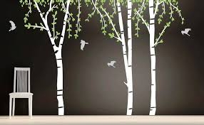 image of birch tree wall decal