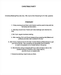 Party Agenda Templates 9 Party Itinerary Templates Free Sample Example Format