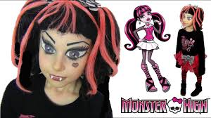 monster high draculaura makeup costume tutorial english subs