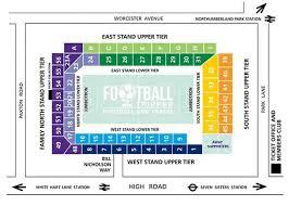 Spurs Stadium Seating Chart White Hart Lane Tottenham Hotspur F C Football Tripper