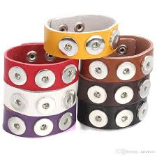 new snap jewelry punk mens 18mm leather snap bracelet three ons snap on bracelet bangle wide wrap bracelets ze510 bangles bracelets for women from