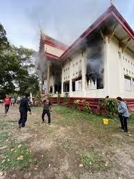 ไฟไหม้คูหาเลือกตั้ง ภายในวัดท่ามะเฟืองที่คนแห่จองกฐิน ได้เงินหลายสิบล้าน -  77 ข่าวเด็ด