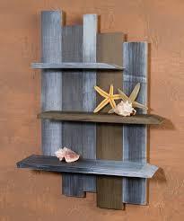 love this weathered wood shelf
