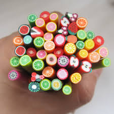 Colorful 3d Fimo Rods Nail Art Sticks Polymer Clay Fruit Canes New ...