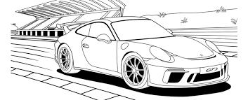 Porsche Kleurplaat Porsche Kids Corner Porsche Nederland