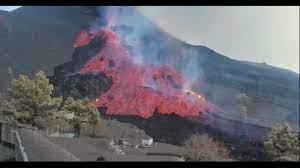 La Palma, crolla la parete Nord del vulcano Cumbre Vieja - YouTube
