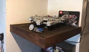 lego set buildbuilt floating shelf for my ucs millennium falcon 75192