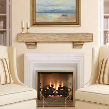 image of vent free gas fireplace with mantel