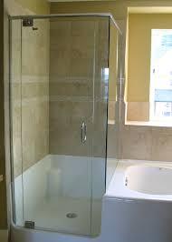 image of clear frameless glass shower doors