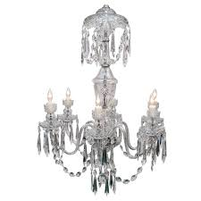 waterford six light crystal chandelier circa 1970
