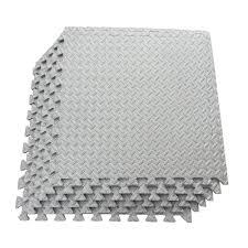 ottomanson multi purpose grey 24 in x 24 in eva foam interlocking anti