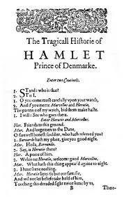 Английский язык Википедия Первая страница пьесы Уильяма Шекспира Гамлет на английском языке