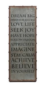 imax 89130 galvanized inspirational wall art with keyhole hanger lightweight motivational quote poster for on motivational wall art for home with amazon imax 89130 galvanized inspirational wall art with