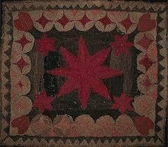 rug hooking pattern stars reels and hearts black sheep wool designs primitive