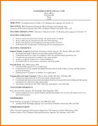 Objectives In Resume Teaching Teachers Objective Cv Cover Letter For