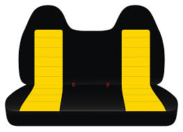 co 26 41 black yellow cotton ford f 150 bench molded headrest