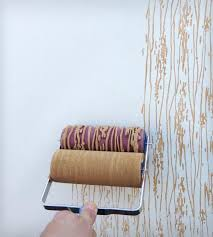 view in gallery patterned roller paint
