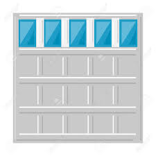 garage door icon over white background vector ilration stock vector 83304111