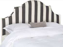 hallmar black white stripe headboard black and white striped furniture