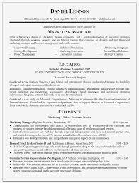 Graduate Resume Sample For Marketing Associate New College Grads