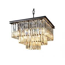 abbyson living devyn 3 tier crystal chandelier in black