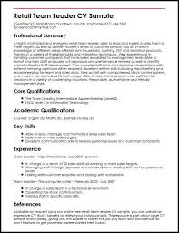 Cv Template For Retail Work Magdalene Project Org