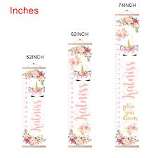 Personalized Unicorn Growth Chart With Name