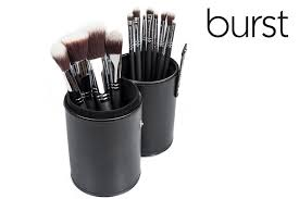 syn 1 a 12 piece synthetic set in round holder burst makeup brushes mac