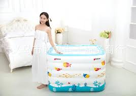 portable tubs for showers new born baby portable bath tub kid inflatable thickening swimming ocean ball pool child bathtub 5 layers in pool accessories from
