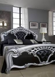 Black And Silver Furniture Bedroom Furniture Black And Silver Photo 1 D