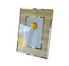 gold snakeskin mirrored glass photo frame 4