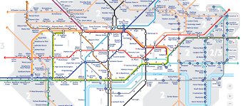 check out this incredible walking tube map  distances between
