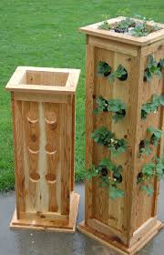 items similar to planter patio tower planter for strawberries herbs or ornamental plants on etsy pallet planter boxvertical pallet gardenvertical