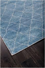 rugsville trellis dara blue silk moroccan rug 120x180 cm