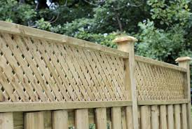 wood privacy screen fence