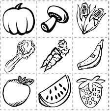 Healthy Foods Coloring Pages Free Printable Food Coloring Pages For