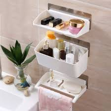 white pvc bathroom wall shelf for home