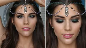 green smokey eye makeup tutorial prom clubbing bridal festival or special event you