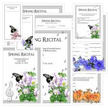 2018 Spring Editable Recital Program Package