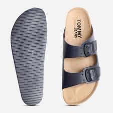 Tommy Jeans Ink Blue Mens Designer Buckle Sandals