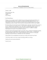 Simple Sample Cover Letter For Construction Supervisor Construction
