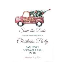 Christmas Party Save The Date Templates Merry Christmas Save The Date Cards Image 0 Home Improvement