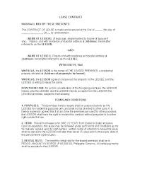 Mutual Agreement Contract Template Beauteous Lease Form Template Commercial Rental Agreement Template Sample