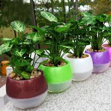 absolutely ideas flower pots mkono 3 5pcs self watering pot automatic planter plant for garden