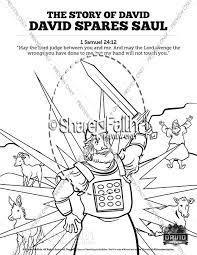 You will do great things and surely triumph. so david went on his way she took some flour, kneaded it and baked bread without yeast. 1 Samuel 23 24 David Spares Saul Sunday School Coloring Pages Sunday School Coloring Pages