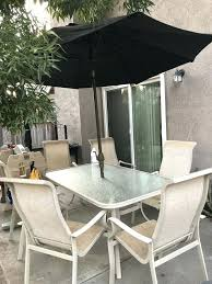 patio table for 6 60 inch round patio table sets