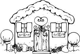 Small Picture To Print Gingerbread House Coloring Page 36 On Seasonal Colouring